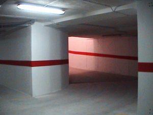 curva de acceso al garaje